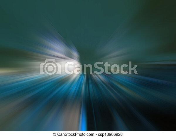 leichte geschwindigkeit, straße - csp13986928