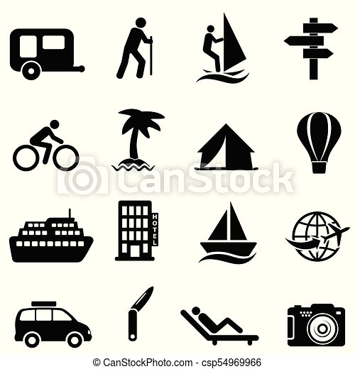 leisure recreation and outdoor icons leisure recreation and outdoor activity icons https www canstockphoto com leisure recreation and outdoor icons 54969966 html