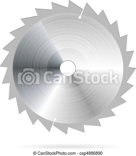 lemmet, vector, zaag - csp4886890