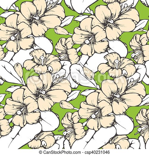 lemon blossom drawing seamless pattern shabby chic seamless pattern