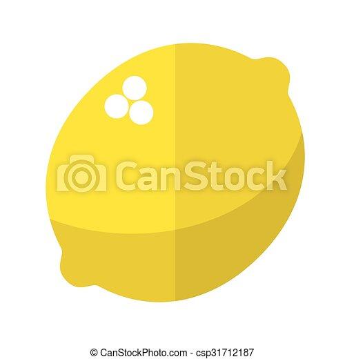 Lemon flat icon - csp31712187