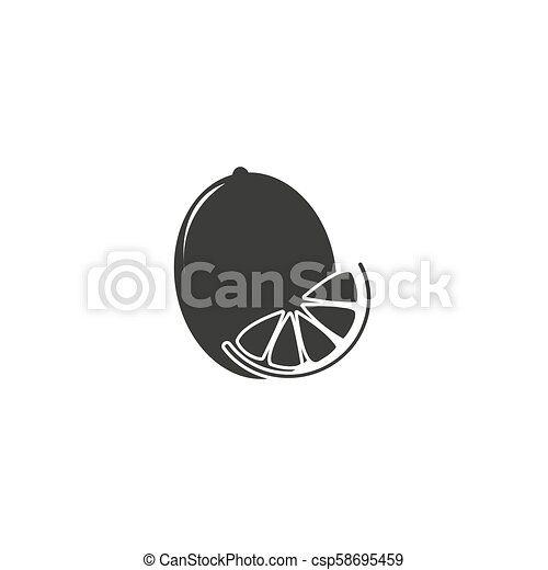 lemon icon Vector Illustration on the white background. - csp58695459