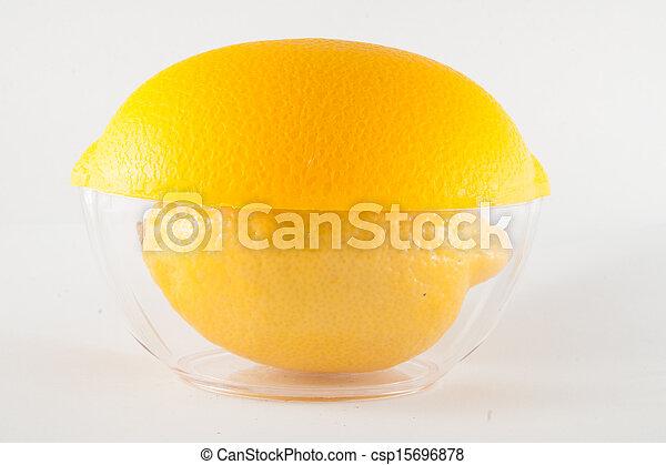 Lemon isolated on white background - csp15696878
