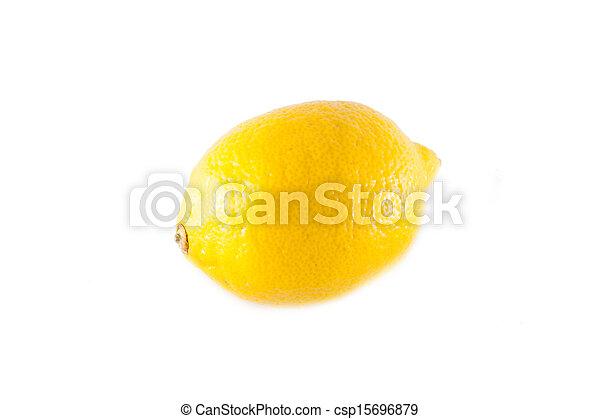 Lemon isolated on white background - csp15696879