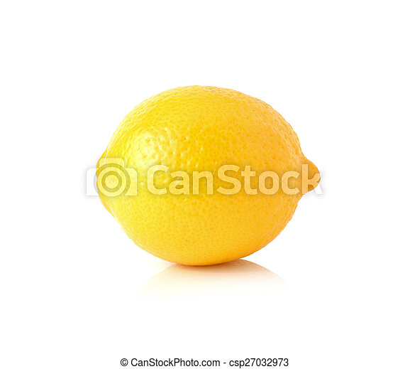 Lemon isolated on white background - csp27032973