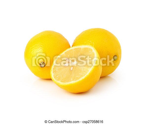 Lemon isolated on white background - csp27058616