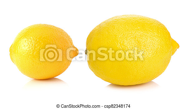 Lemon isolated on white background - csp82348174