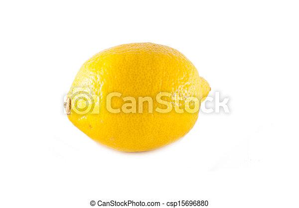 Lemon isolated on white background - csp15696880