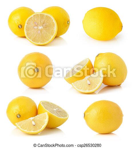 Lemon isolated on white background - csp26530280