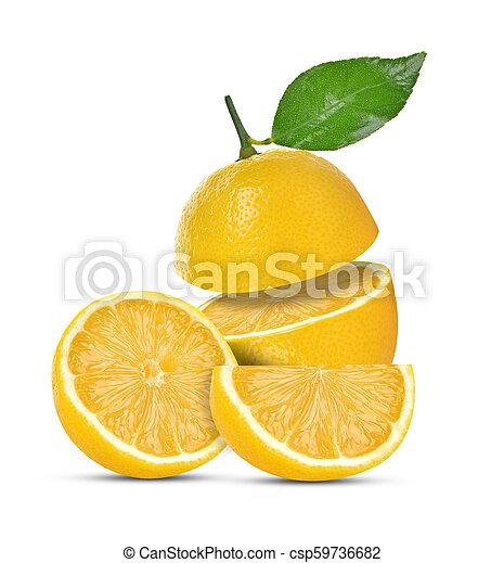 lemon isolated on white background - csp59736682