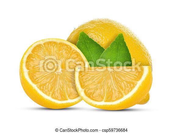 lemon isolated on white background - csp59736684