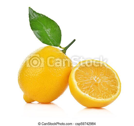 lemon isolated on white background - csp59742984