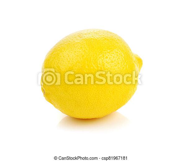 lemon isolated on white background. - csp81967181
