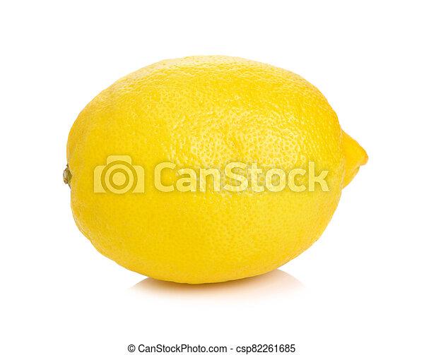 Lemon isolated on white background - csp82261685