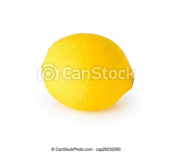 Lemon isolated on white background - csp26232260