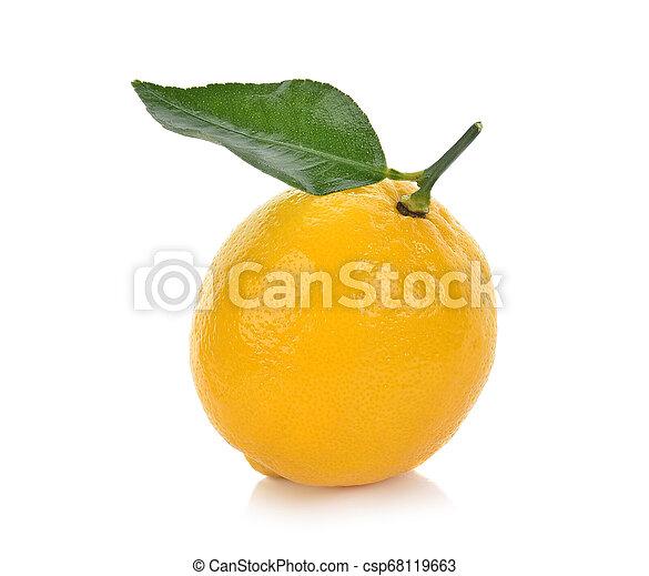 lemon isolated on white background - csp68119663