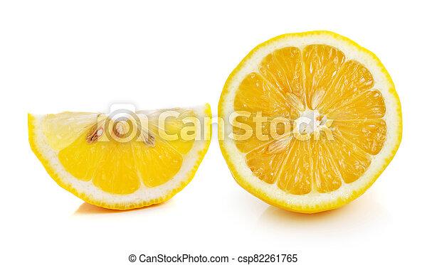 Lemon isolated on white background - csp82261765