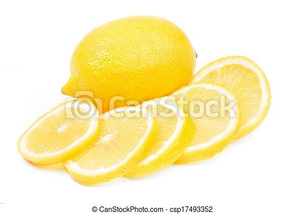 lemon isolated on white background - csp17493352