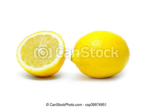 Lemon isolated on white background - csp39974951