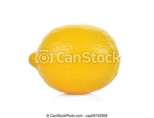 lemon isolated on white background - csp59742958