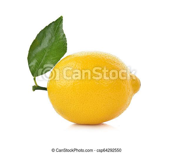 lemon isolated on white background - csp64292550