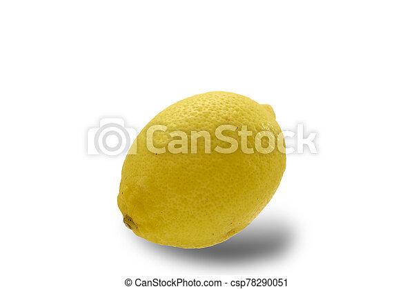 Lemon isolated on white background - csp78290051