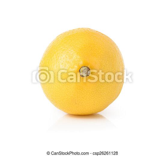 Lemon isolated on white background - csp26261128