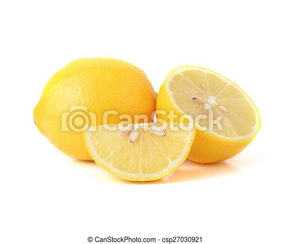 Lemon isolated on white background - csp27030921