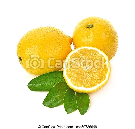 lemon isolated on white background - csp59736648