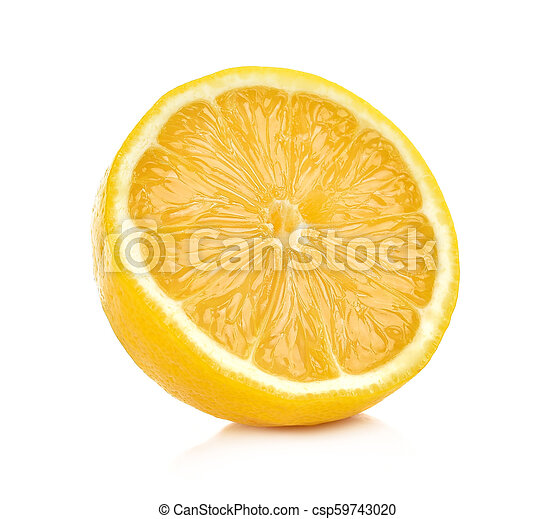lemon isolated on white background - csp59743020
