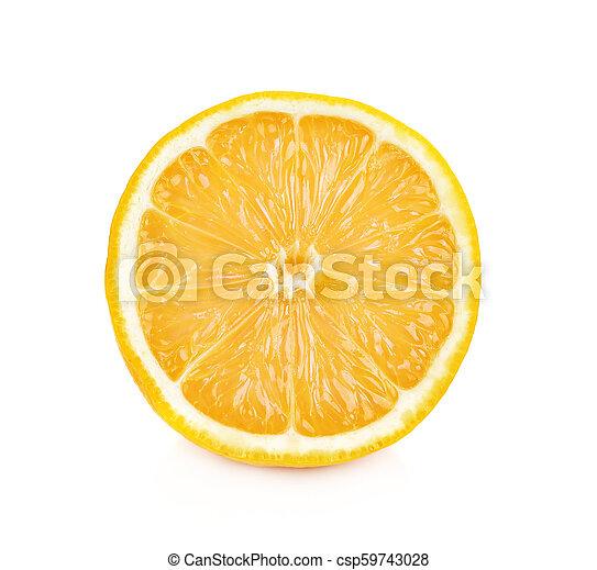 lemon isolated on white background - csp59743028