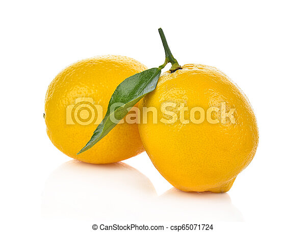 Lemon isolated on white background - csp65071724