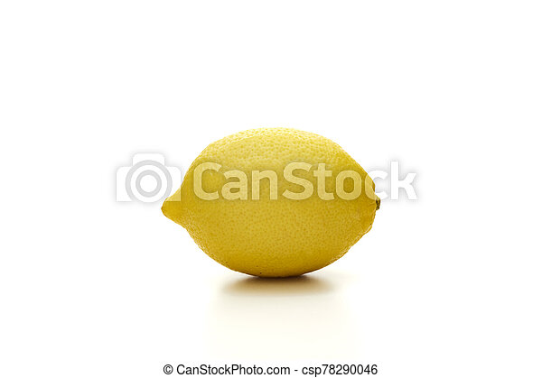 Lemon isolated on white background - csp78290046