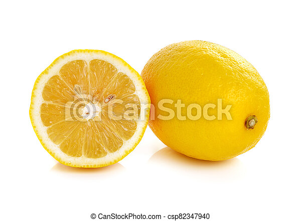 Lemon isolated on white background - csp82347940
