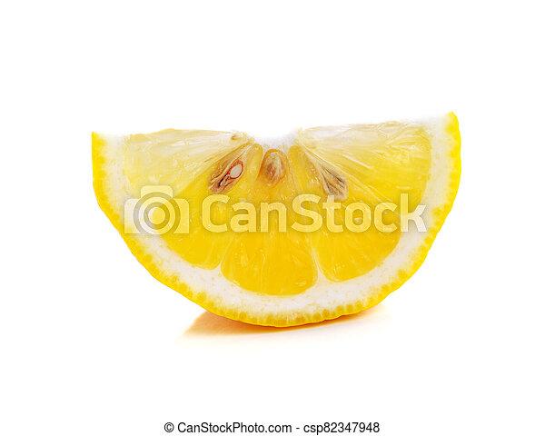 Lemon isolated on white background - csp82347948