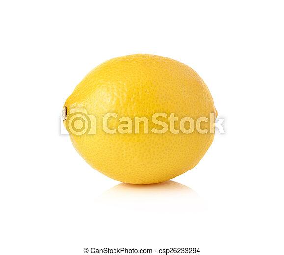 Lemon isolated on white background - csp26233294