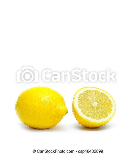 Lemon isolated on white background - csp46432899