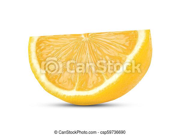lemon isolated on white background - csp59736690