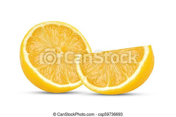 lemon isolated on white background - csp59736693