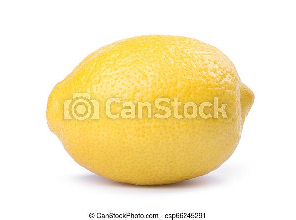 Lemon isolated on white background - csp66245291
