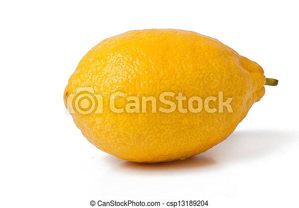 Lemon isolated on white background - csp13189204