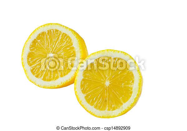 Lemon isolated on white background - csp14892909