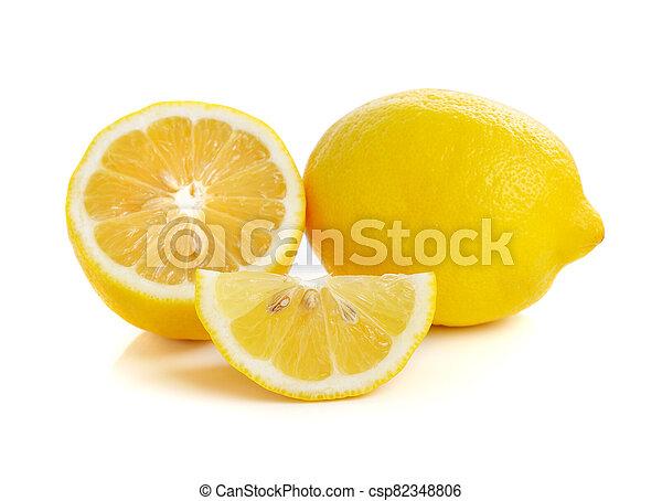 Lemon isolated on white background - csp82348806