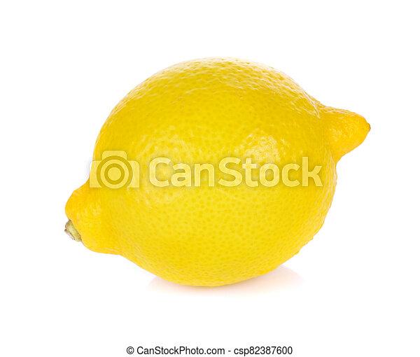 Lemon isolated on white background - csp82387600