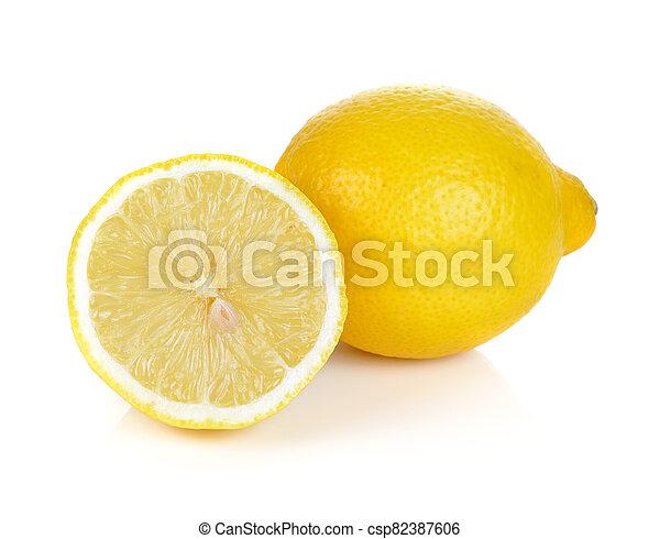 Lemon isolated on white background. - csp82387606