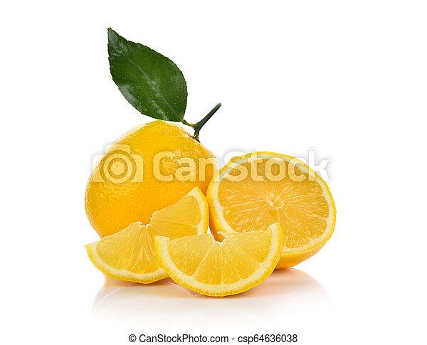 lemon isolated on white background - csp64636038