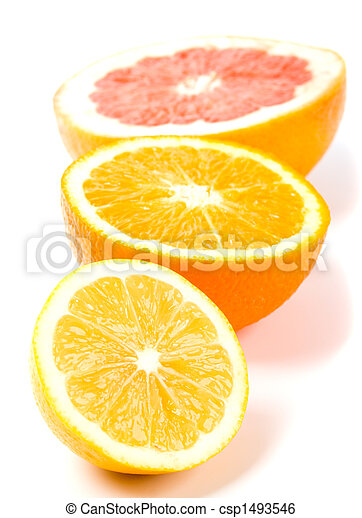 lemon, orange and grapefruit - csp1493546