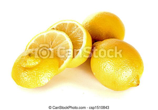 lemon over white - csp1510843