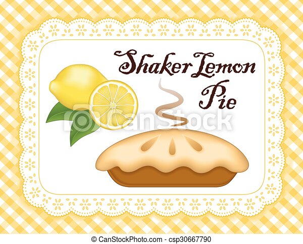 Lemon Pie, Lace Doily Place Mat - csp30667790