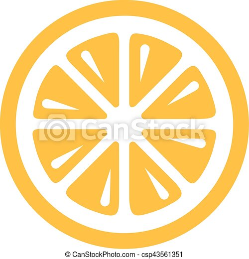lemon slice icon rh canstockphoto com slice of lemon clipart Lemon Wedge Clip Art